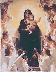 Богородица с Младенцем Христом в раю